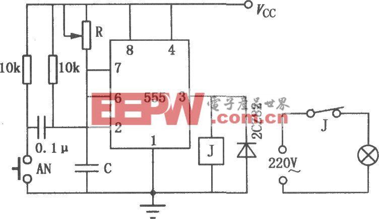 555组成的印相定时电路