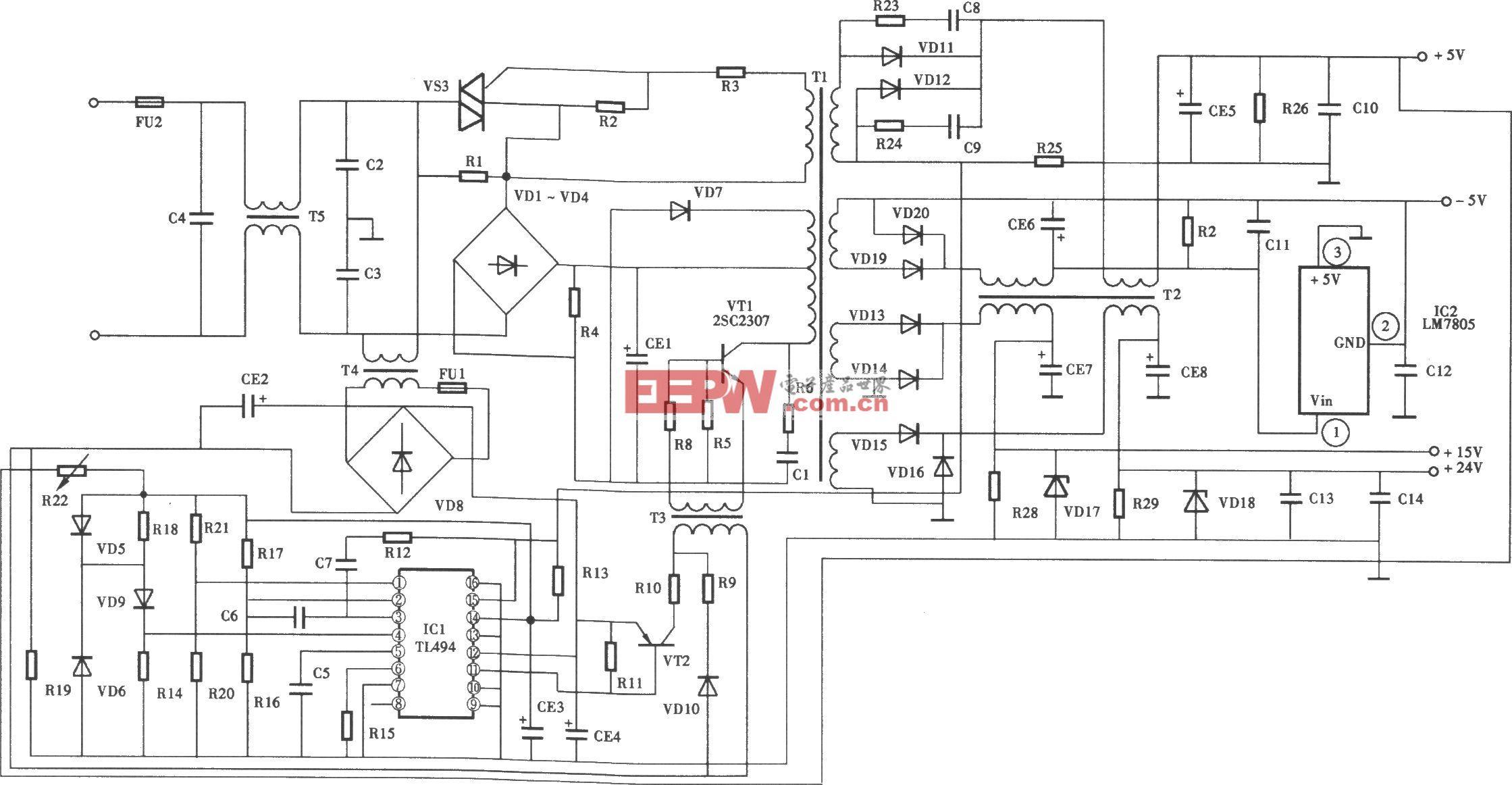 理光复印机开关电源电路