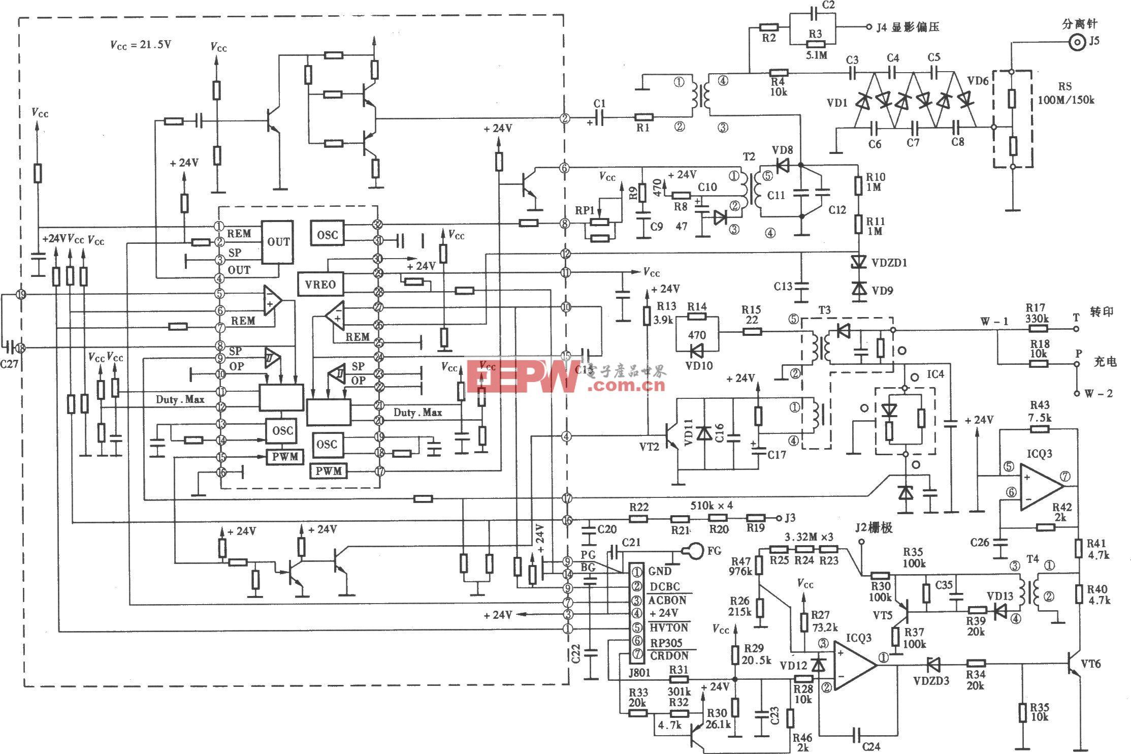 佳能系列复印机高压电源电路