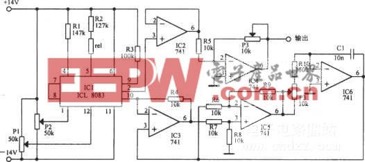 调谐电容器模拟振荡电路