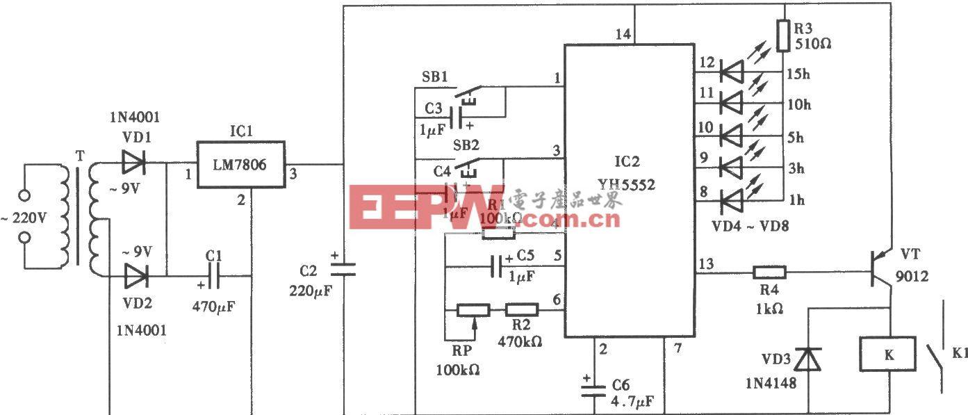 采用YI-15552的定时器电路