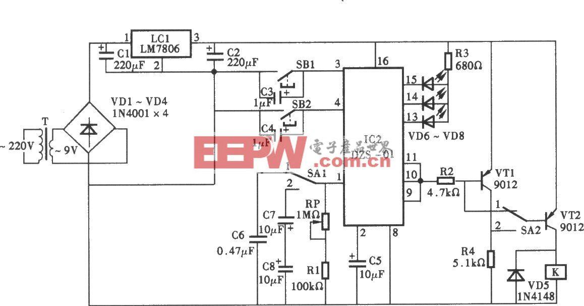 采用DZS-01的定时器电路