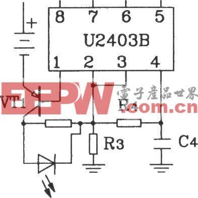 由U2403B恒温流充电计时器构成大电流充电电路