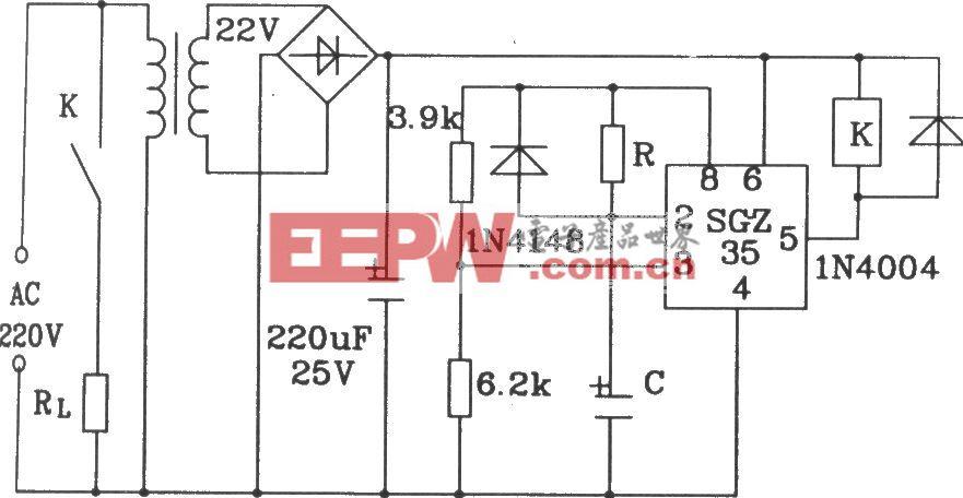 由SGZ35时间控制集成电路构成延时电路