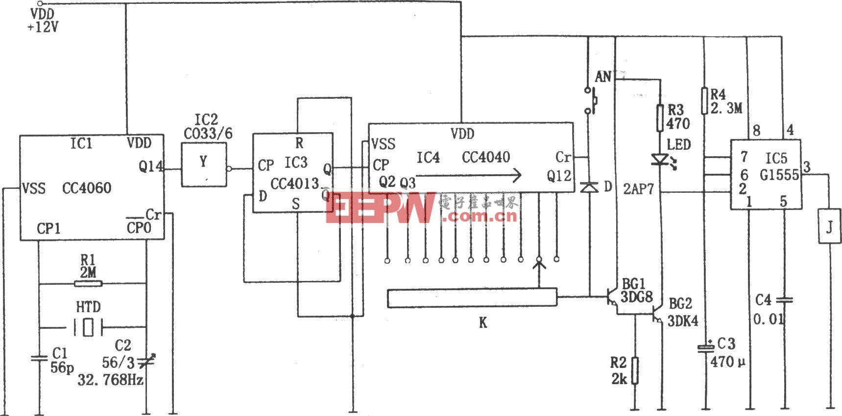精密数字式定时控制器(CC4013、CC440、CC4060、G1555)