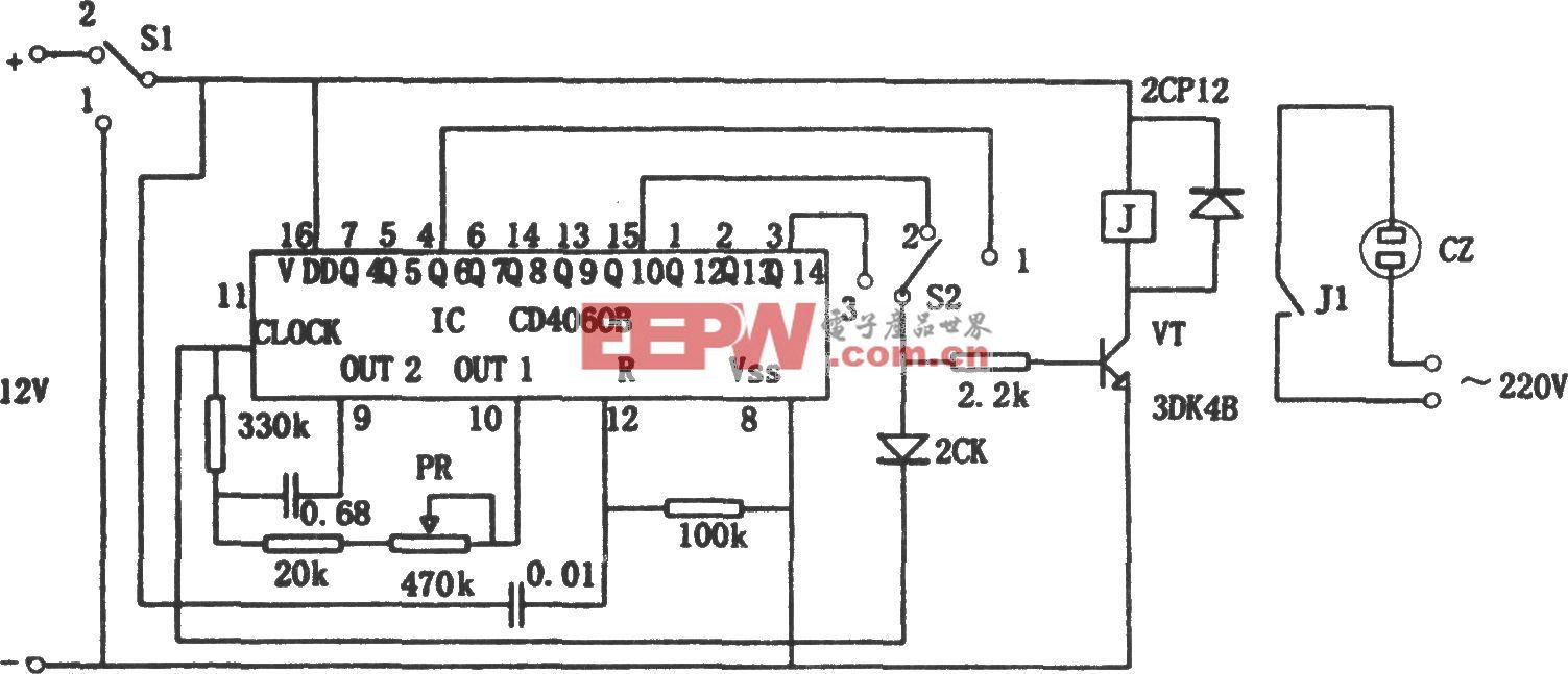 采用CD4060B构成的高可靠通用定时器
