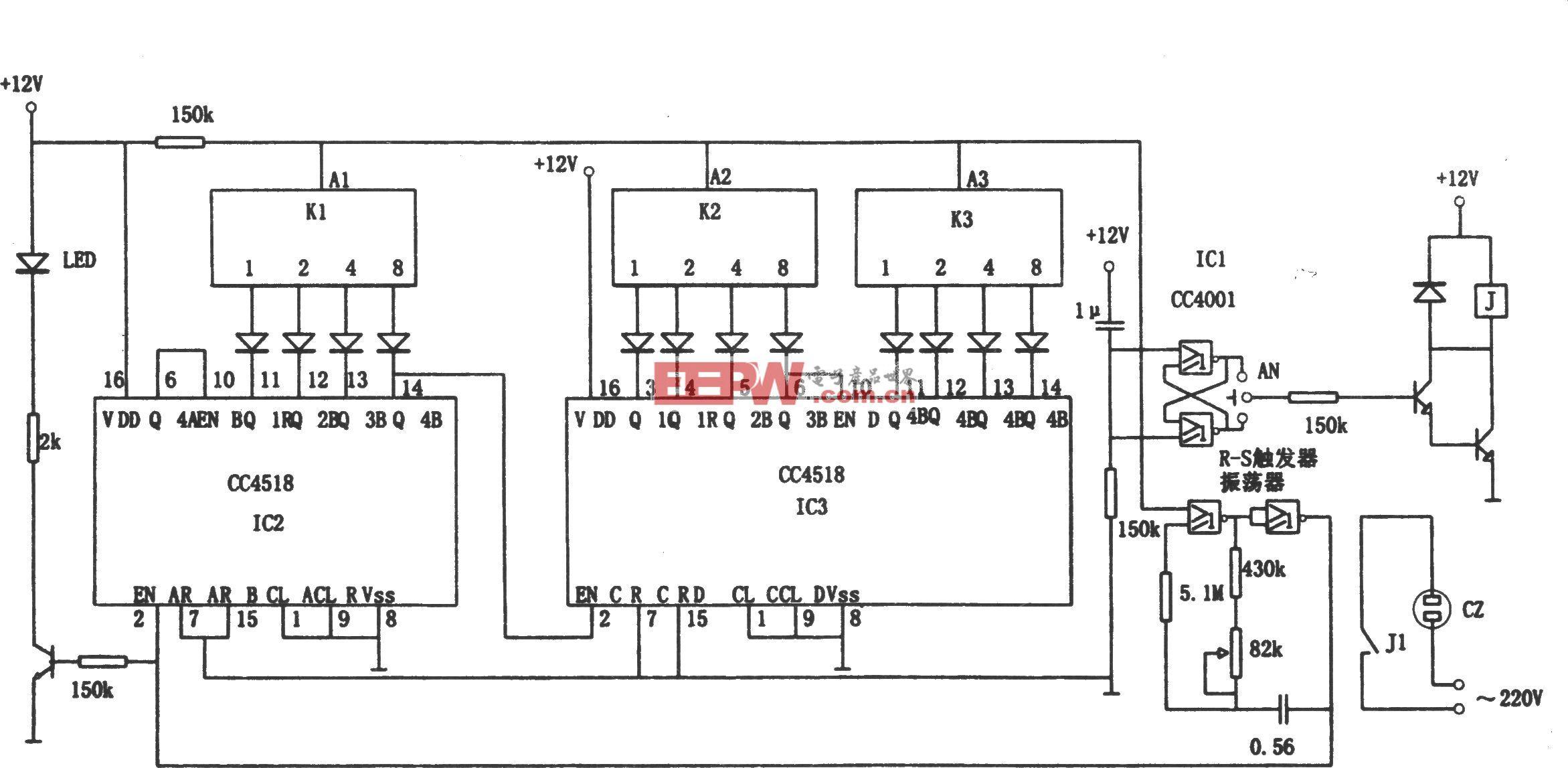 高可靠通用定时器(CC4518、CC4001)