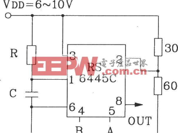 RS6445C长时间定时集成电路典型应用电路