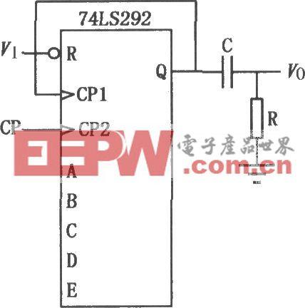 74LS292组成的可编程分频器延时电路