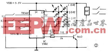 Y982电加热器温控电路