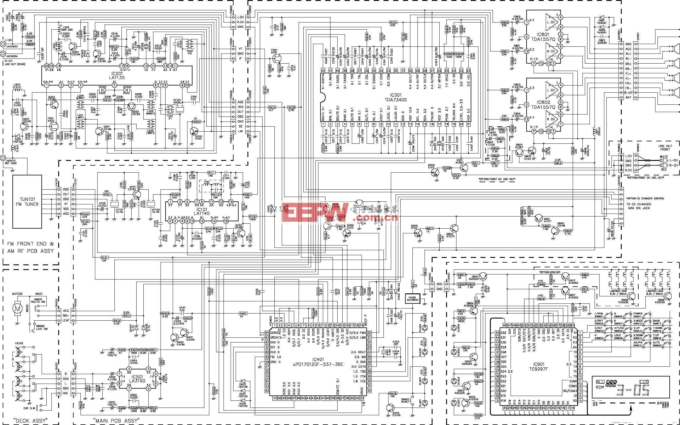 TDA7340汽车音响电路图