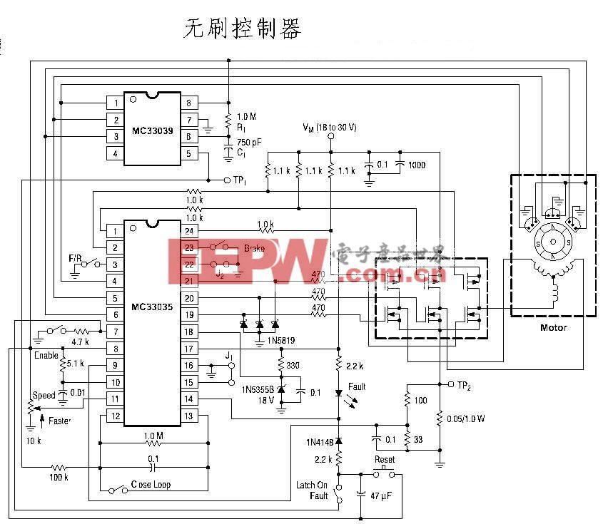 MC33035有刷电机控制器线路图