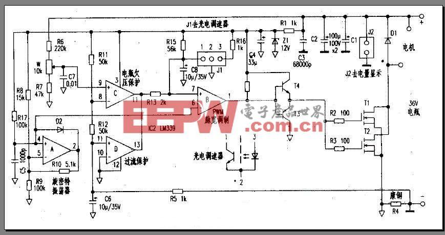 电动车简易控制器电路图