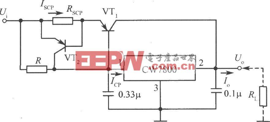 CW7800构成的大电流输出集成稳压电源电路之二