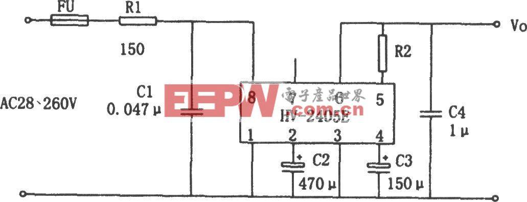 由HV-2405组成的交流市电供电的低压直流稳压电源