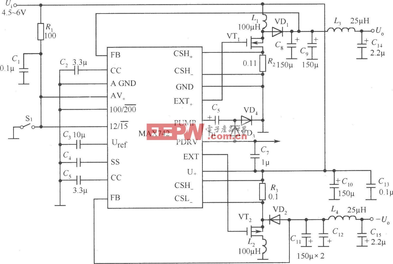 MAX742的标准应用电路