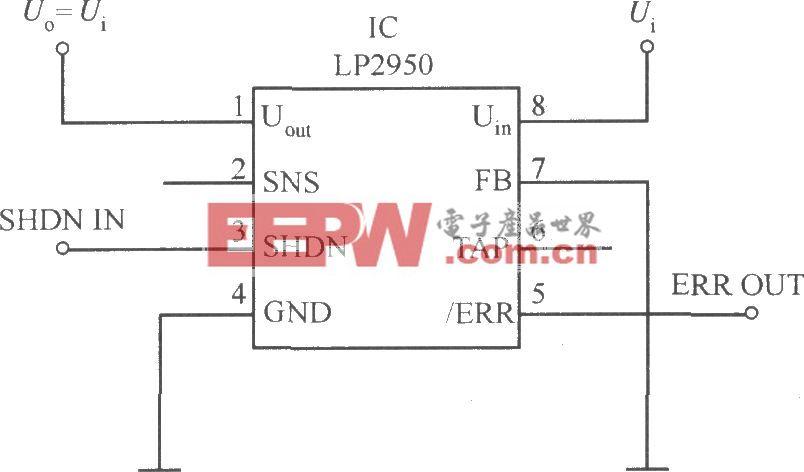 MIC2951构成的具有宽输入电压范围的限流器电路