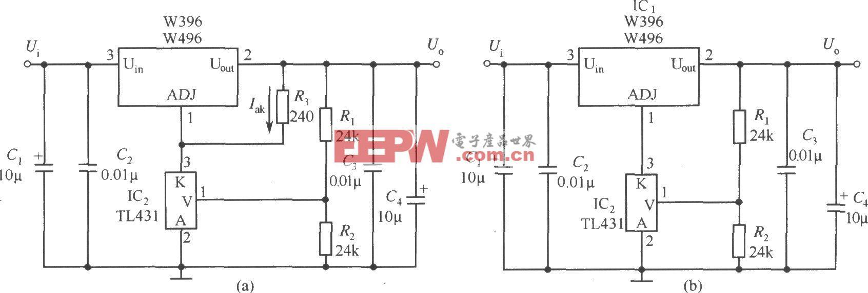 提高W396/W496输出稳定度的应用电路(一)