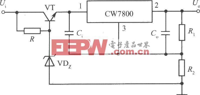 CW7800构成的高输入-高输出集成稳压电源电路之三