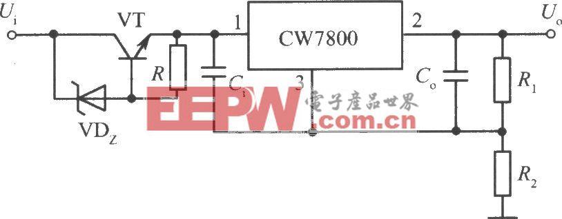 CW7800构成的高输入-高输出集成稳压电源电路之二