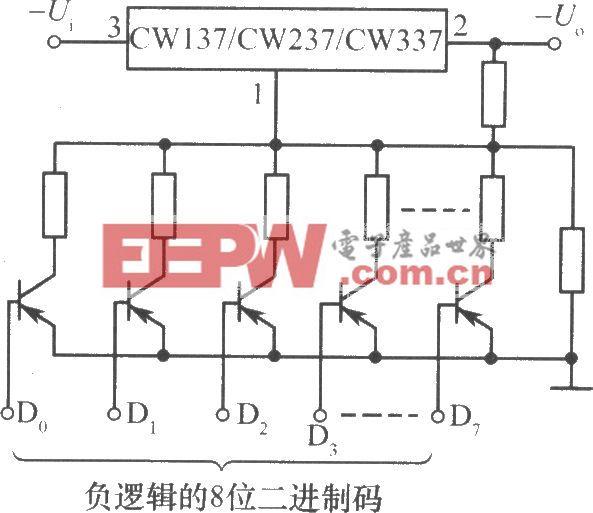 CW137/CW237/CW337構成的由數字控制的集成穩壓電源