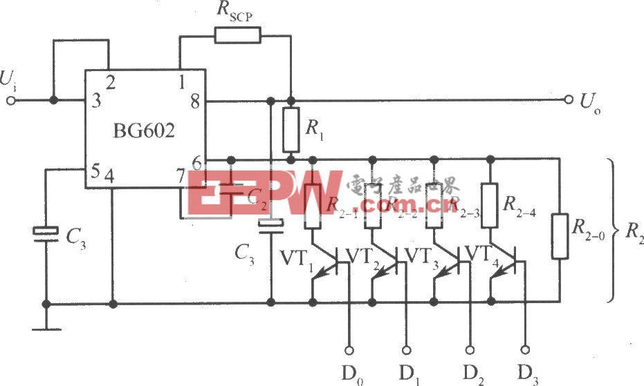 BG602組成的邏輯控制的集成穩壓電源
