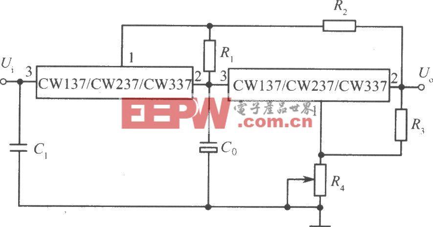 CW137/CW237/CW337构成的跟踪式集成稳压电源