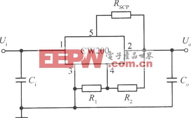 CW200的标准应用电路