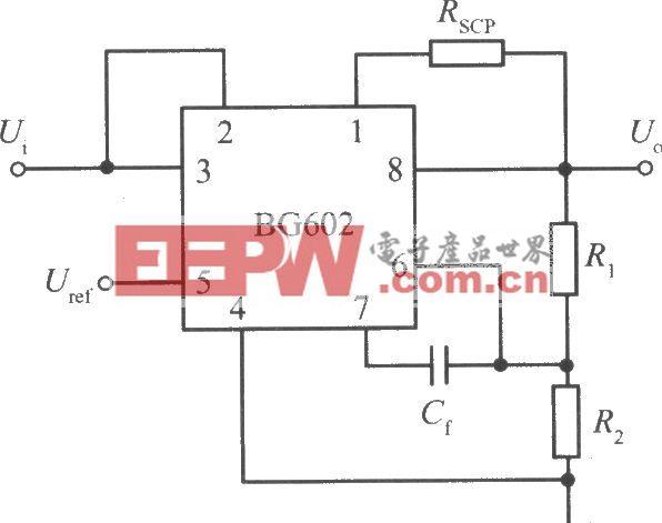 小功率集成稳压器BG602的标准应用电路