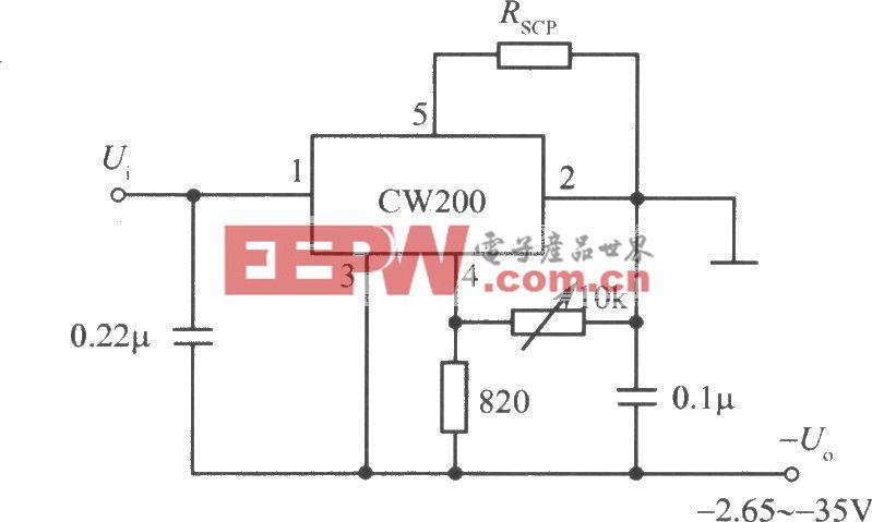 负输出电压集成稳压电源之二(CW200)