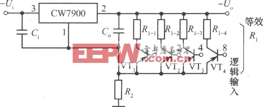 CW7900构成的数字控制集成稳压电源电路