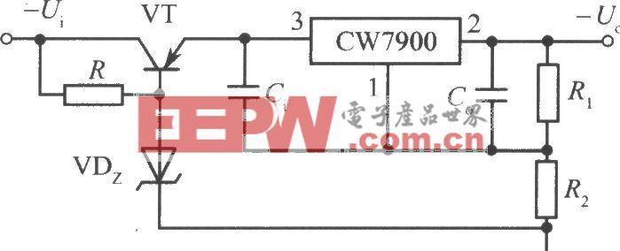 CW7900构成的高输入-高输出电压集成稳压电源电路之三