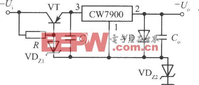 CW7900构成的高输入-高输出电压集成稳压电源电路之一