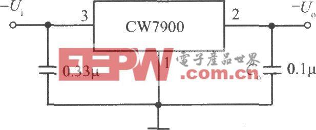 CW7900構成的固定負輸出電壓集成穩壓電源電路