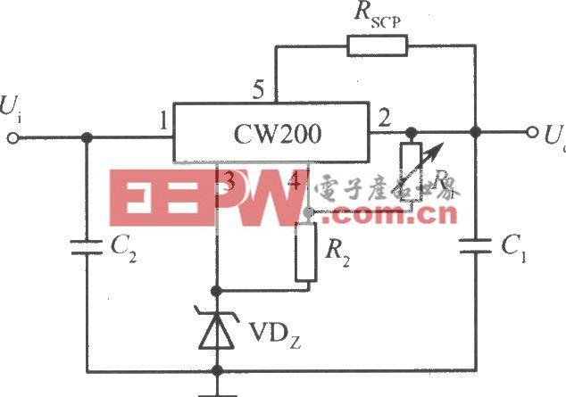垫高零电位的高输出电压集成稳压电源(CW200)