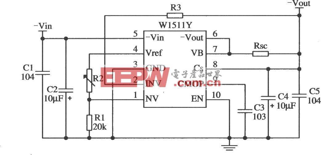W1511的输出低电压的应用电路