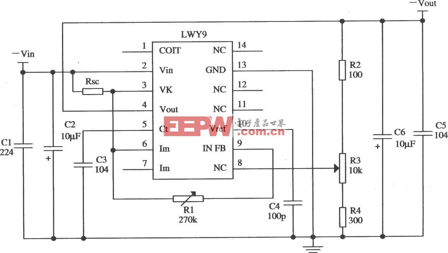 LWY9负集成稳压器的典型应用电路