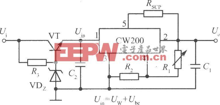 高输入电压集成稳压电源电路之四(CW200)