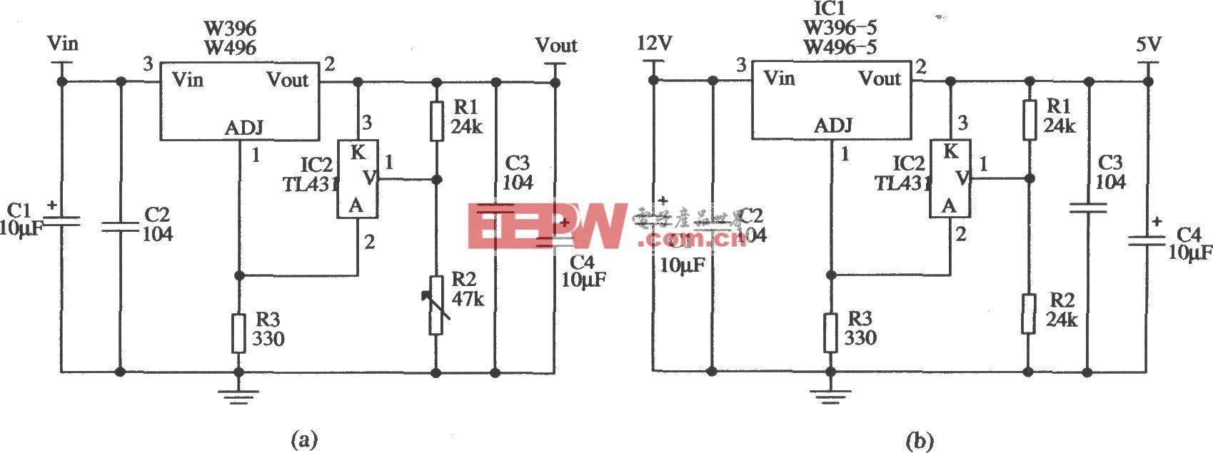 提高W396/W496输出稳定度的应用电路2