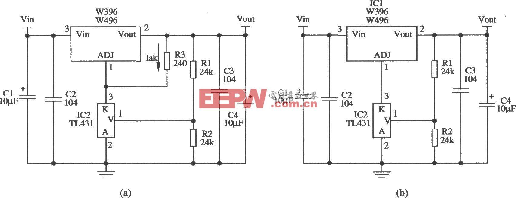 提高W396/W496输出稳定度的应用电路l