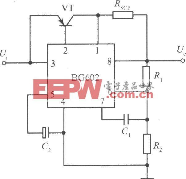 用PNP型功率晶体管扩流的BG602集成稳压电源