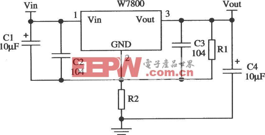 由W78××构成的提高输出电压的应用电路
