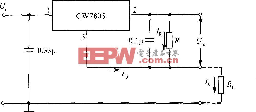 CW7805构成的恒流源电路