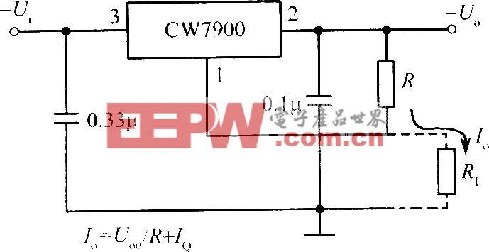CW7900构成的恒流源电路