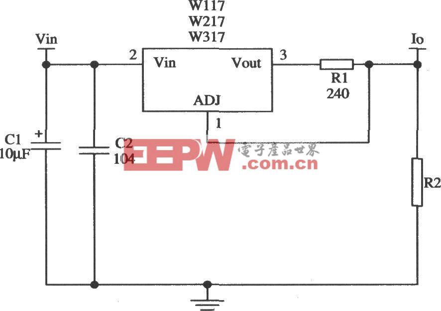 由Wll7/W217/W317构成的恒流源应用电路