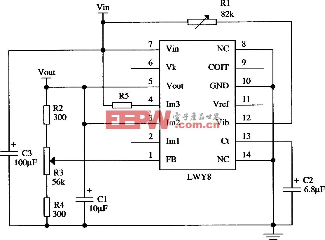 LWY8正集成稳压器的典型应用电路