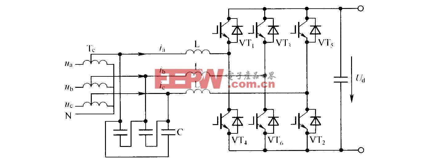 三相PWM整流电路的结构