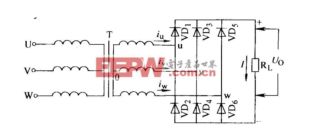 三相桥式电阻负载整流电路