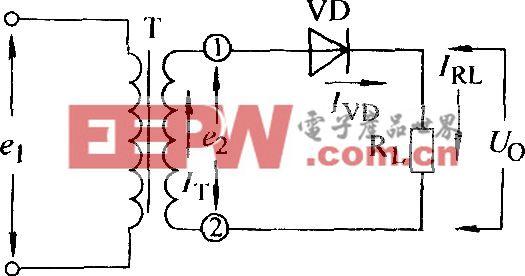 单相半波电阻负载整流电路