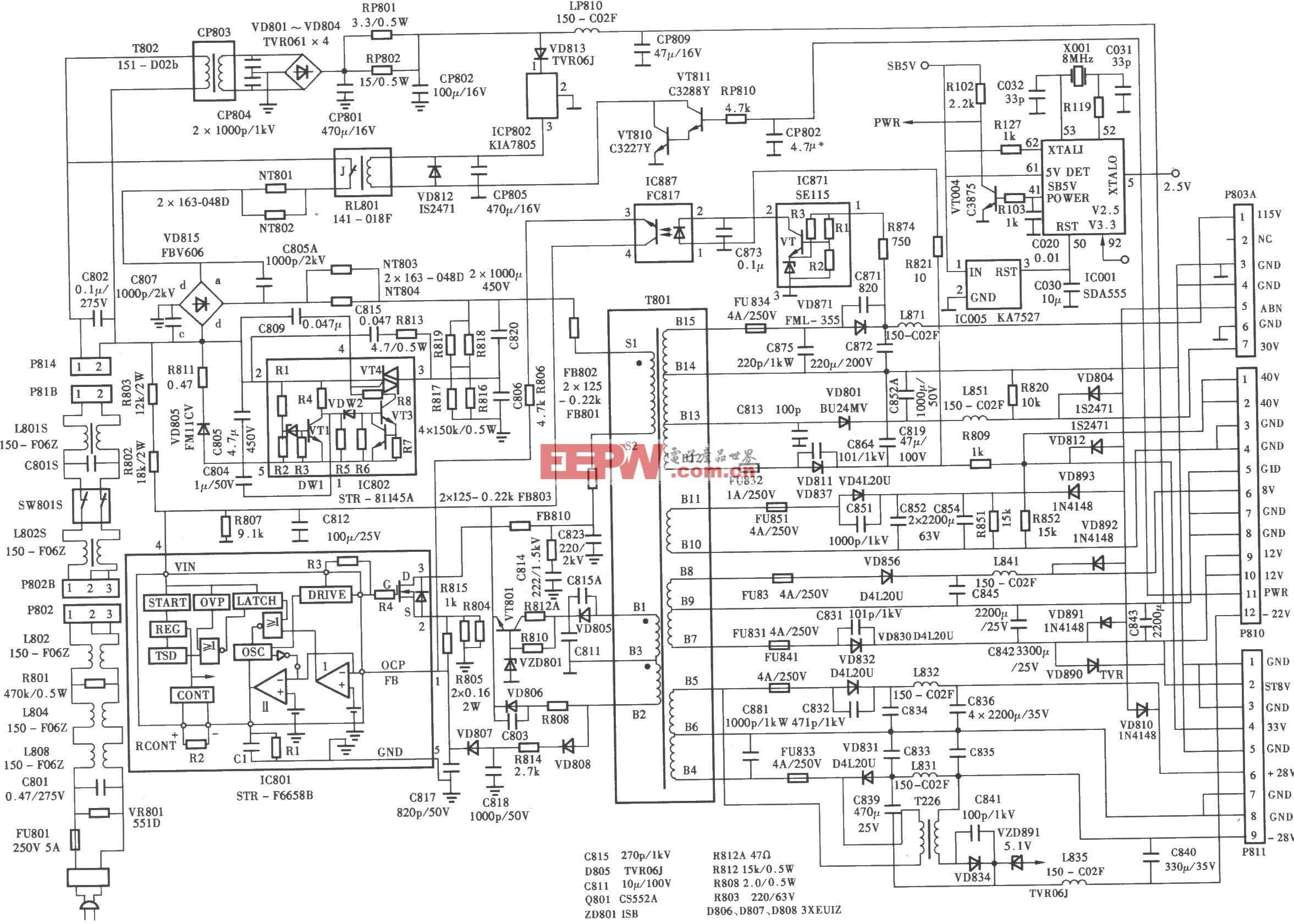 LG PT-48A82背投彩电电源电路